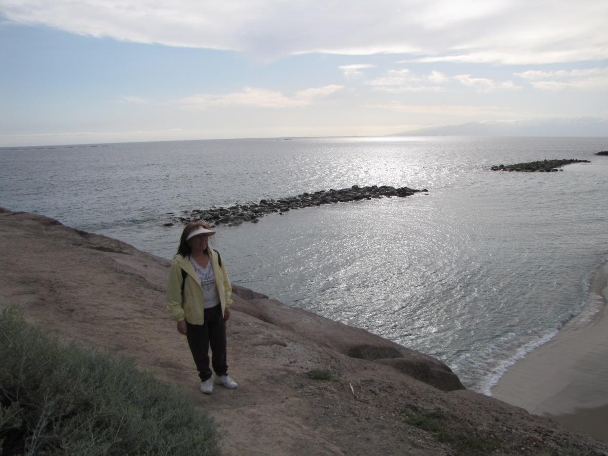 """Sunshine on the Atlantic at Tenerife"""