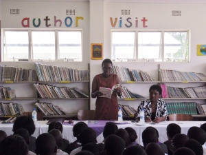"Author Virginia Phiri reading ""Wallace in Underland"""