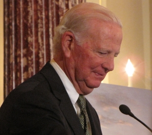 James Baker, III, Secretary of State in the George H. W. Bush administration, speaks at opening of US Diplomacy Center.