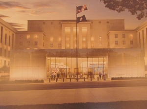 Artist's concept of the US Diplomacy Center and Museum.