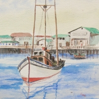 Sail Boat: Watercolor
