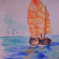 Sampan: Watercolor