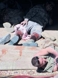'Casualties' from the IED.