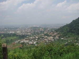 Yaoundé is called 'the city of seven hills,' and in this picture you can see why.