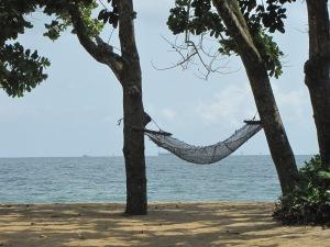 A hammock on Grand Batanga Beach, south of Douala.
