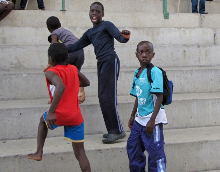 These young boys in Chitungwiza, just outside Harare, Zimbabwe, show that joy can be found anywhere - or maybe just that boys will ever be boys.